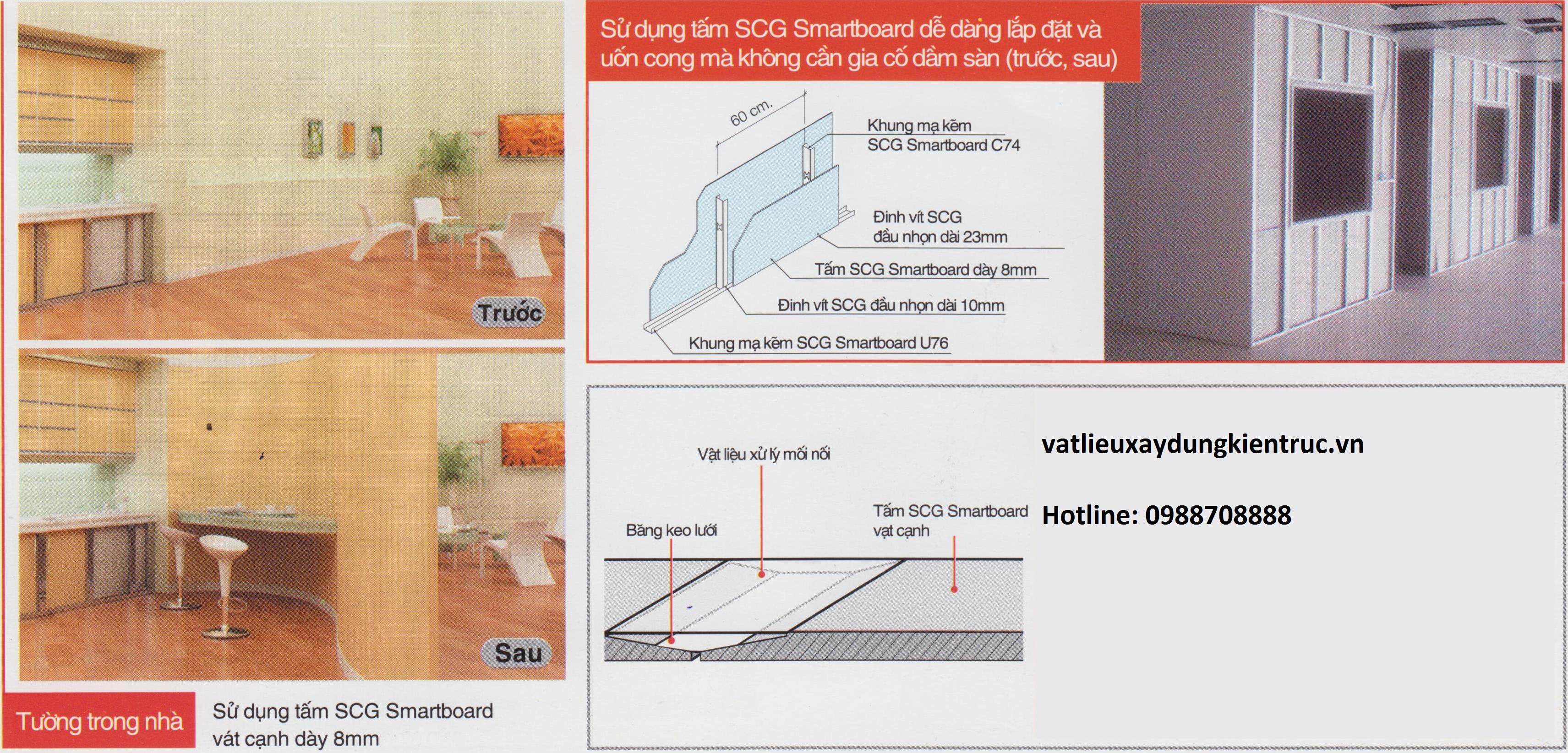 Tấm 3D sử dụng làm tường, vách ngăn trong nhà